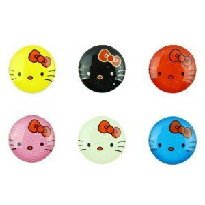 3D Semi-circular Cute Kitty Cat 6 Pieces Home Button Stickers for iPhone 5 4/4s 3GS 3G, iPad 2, iPad Mini, iTouch Black, White, Red, Pink, Yellow, Blue by Red Rock. $2.99. Self Adhesive easy to install stickers. Great for iPhone 5 4/4s 3GS 3G iPad iTouch. 6 peices Cute Kitty Cat Style Home Buttons. 3 Dimensional Semi-Circular Feel. Black, White, Yellow, Pink, Red, Blue. These stickers add an extra dimension to your electronic device.  They are super easy to apply and yo...