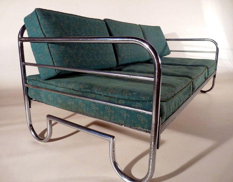 SOFA BAUHAUS TAGESBETT COUCH 1930 Art Deco von FERDINAND