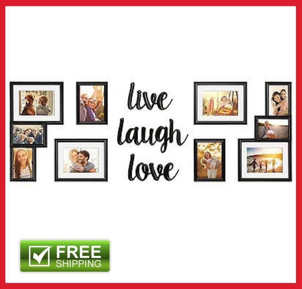 Proudly Display Your Most Cherished Memories In The 9 Piece Picture Photo Frame Set Live Love Laugh Gallery Wall Art Home Decor Gift