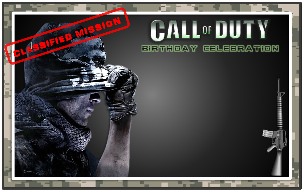 call of duty blank invitation