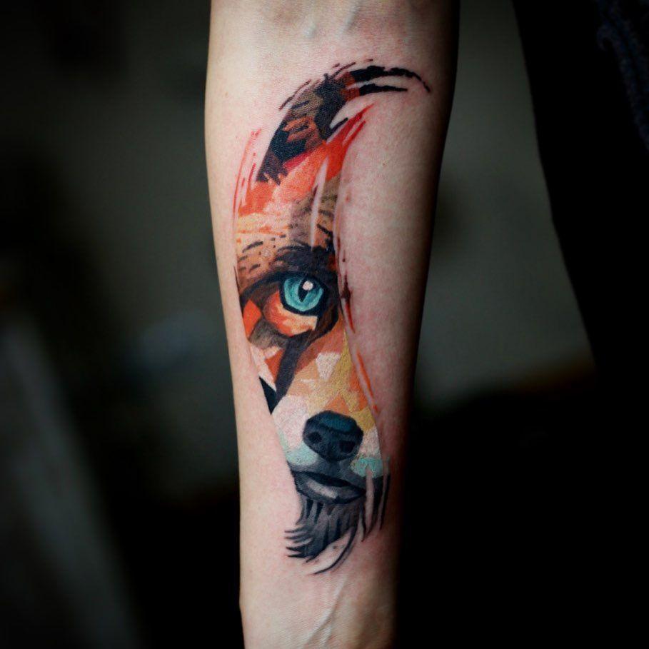 20 Best Colored Animal Tattoo Design Ideas Animal Tattoo Animal Tattoos Tattoo Designs