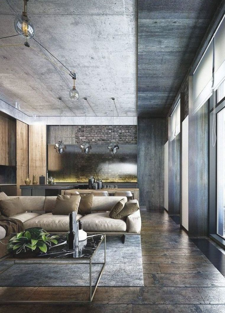 35 Perfect Design Industrial Style Bachelor Pads #industrialdesign #style #bachelorpad