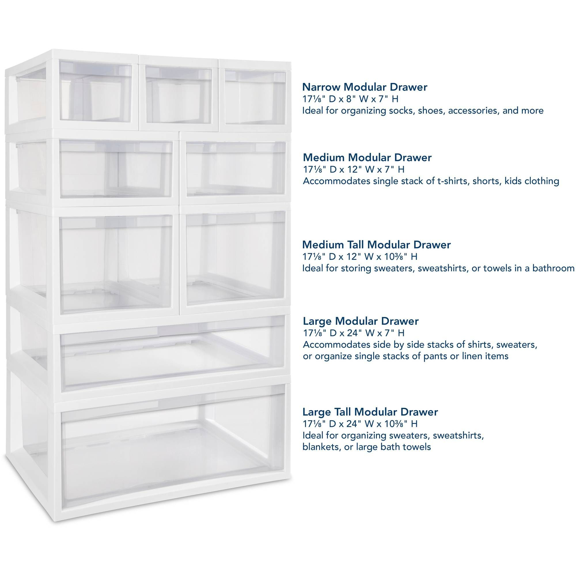 available of modular sterilite drawers plastic white pin tall in stackable large case