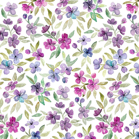 Colorful Fabrics Digitally Printed By Spoonflower Purple Plum And Magenta Watercolor Blossoms Spoonflower Prints Watercolor