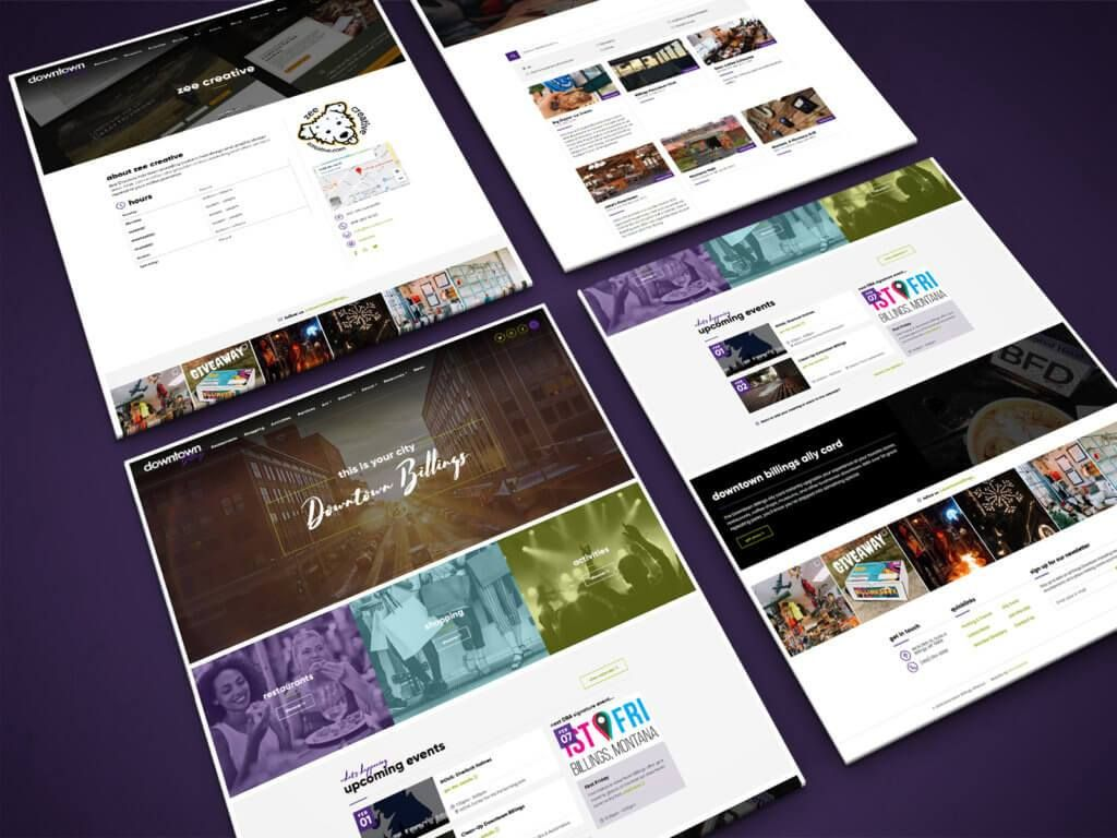 Downtown Billings Association Wordpress Website Design Creative Web Design Web Design