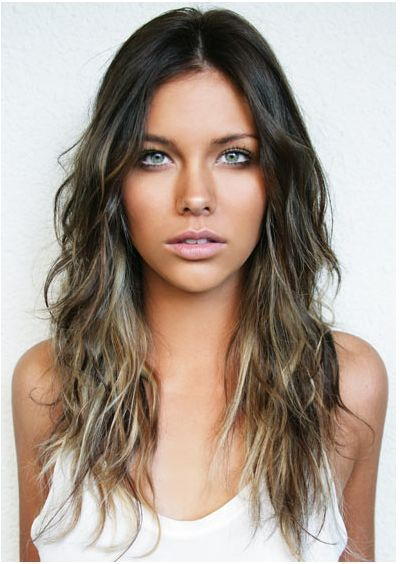 Trendy highlights for brunette hair 2017 hair pinterest ash rich brown ombre with dark ash blonde long type 2 wavey curls wind up reactivating spray from curvaceous collection weeks for trimlove cut style color pmusecretfo Image collections