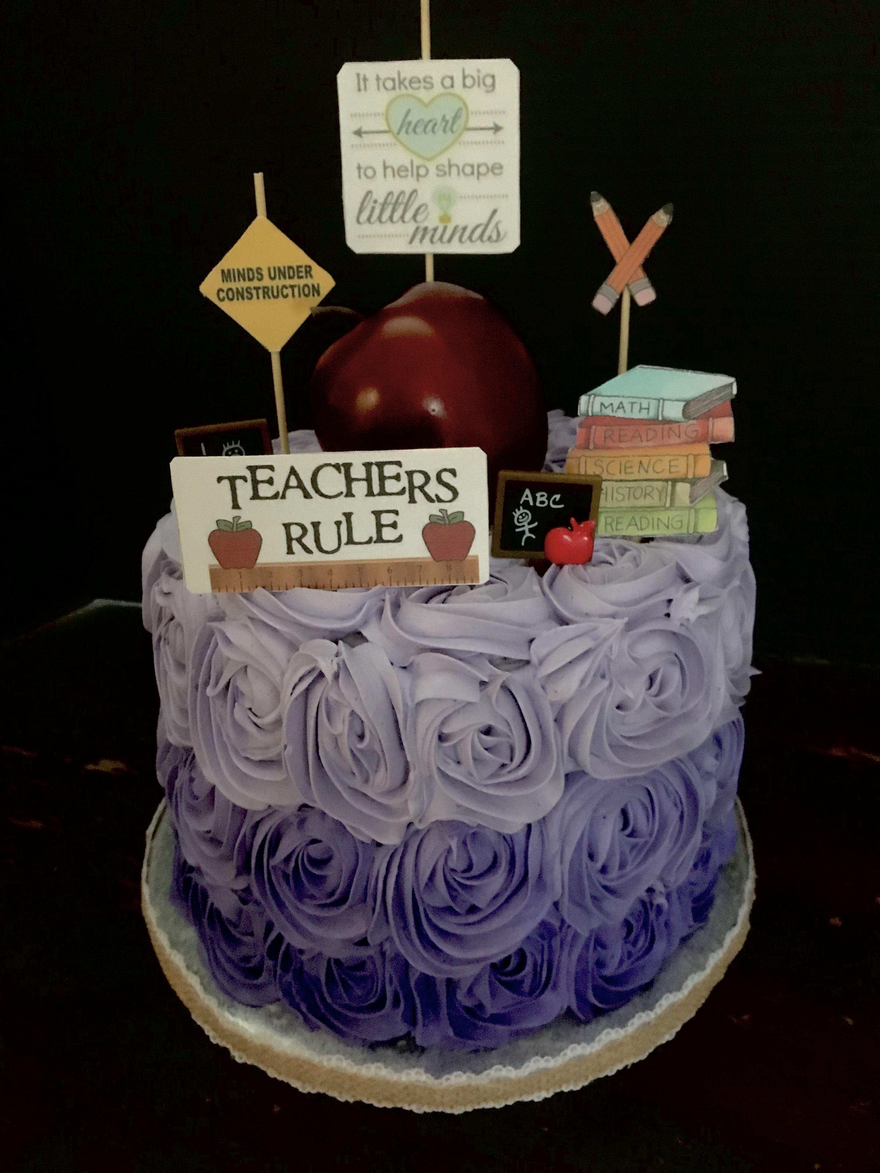 Amazing Teacher Themed Happy Birthday Cake Teacher Birthday Cake Happy Birthday Cards Printable Trancafe Filternl