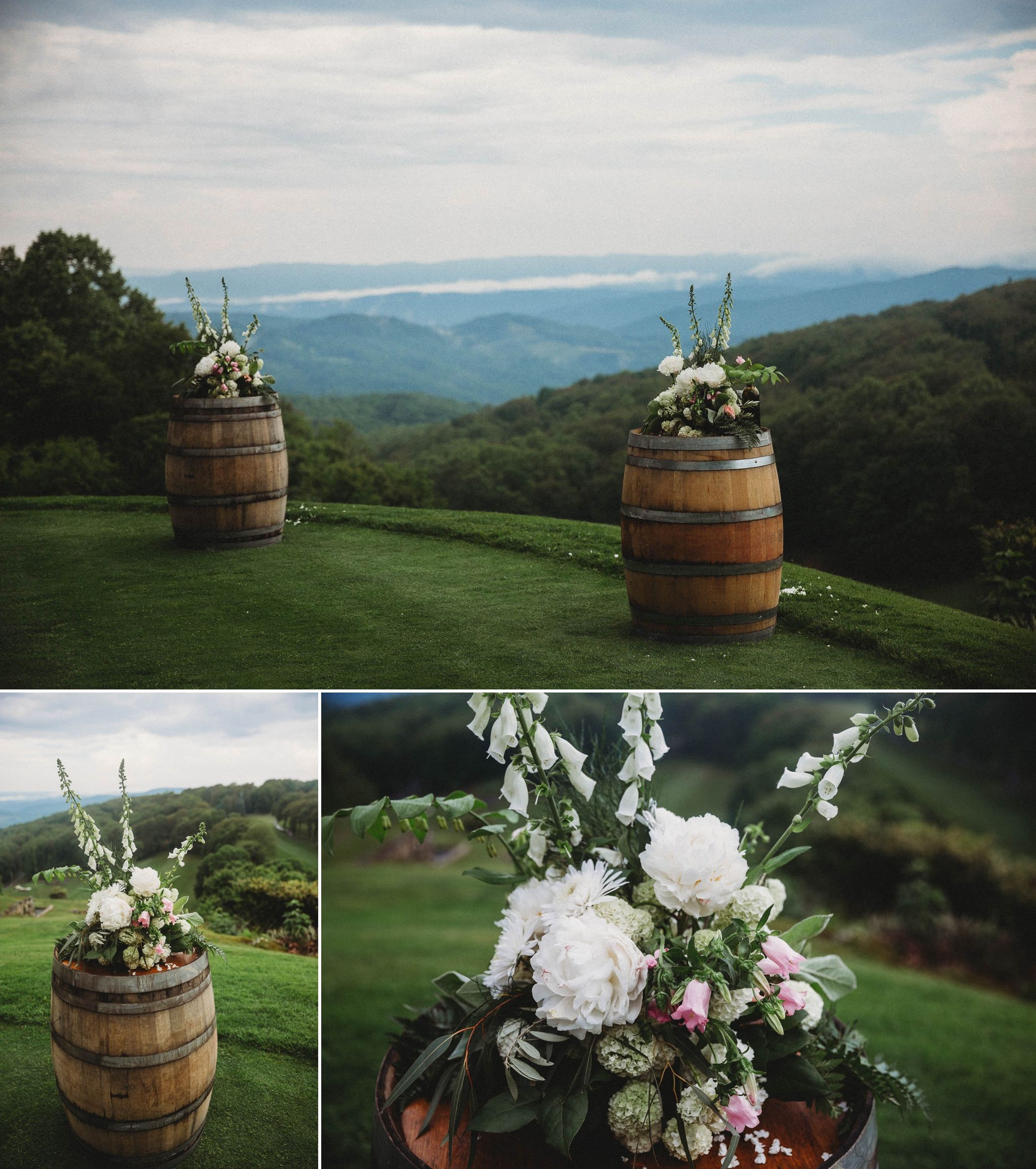 Waikiki Beach Wedding Ceremony: Ceremony Overlooking The Mountains At Beech Mountain Club