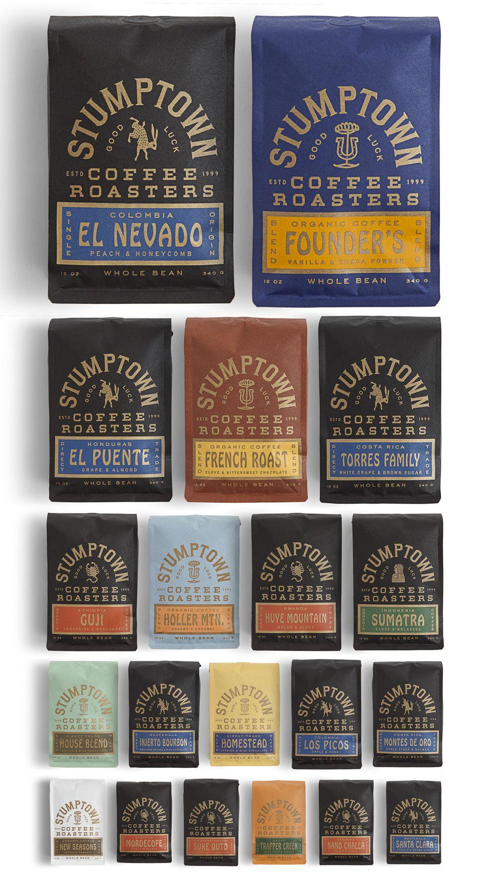 New Packaging For Stumptown Coffee Roasters By Land Stumptown Coffee Roasters Stumptown Coffee Coffee Packaging