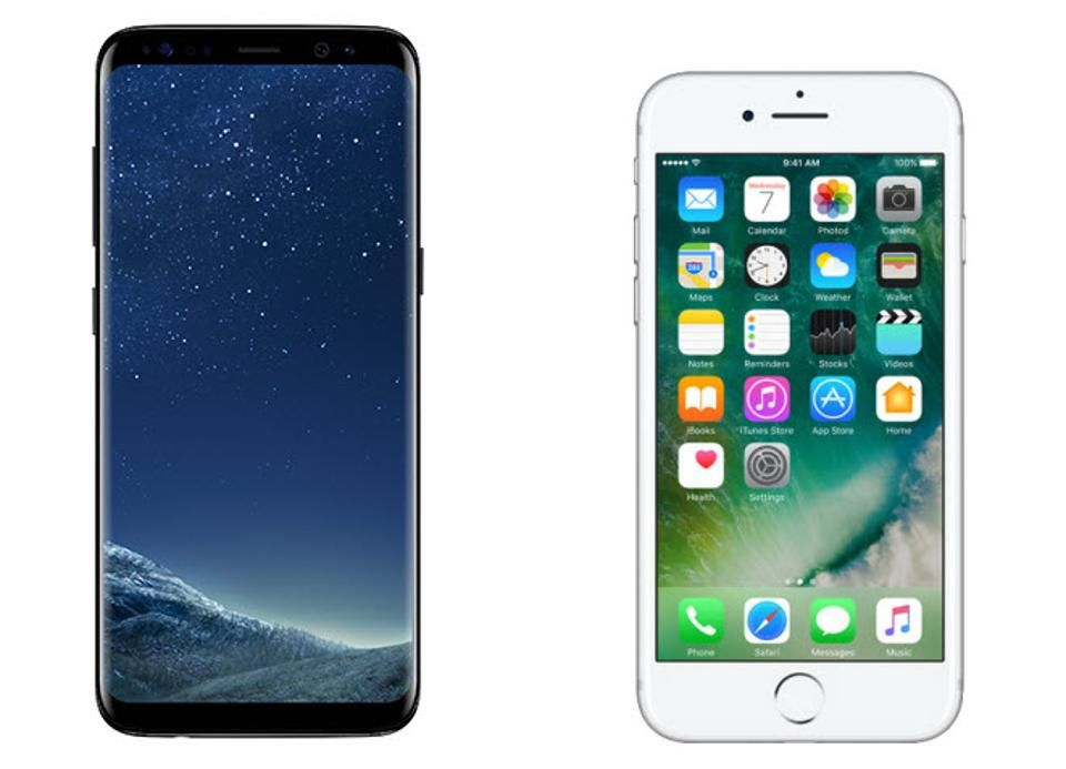 Samsung Galaxy S8 Vs iPhone 7: What's The Difference?  #GalaxyS8 #iPhone7 #GalaxyS8Plus #smartphone #samsunggalaxys8 #Bixby #Siri #Android7