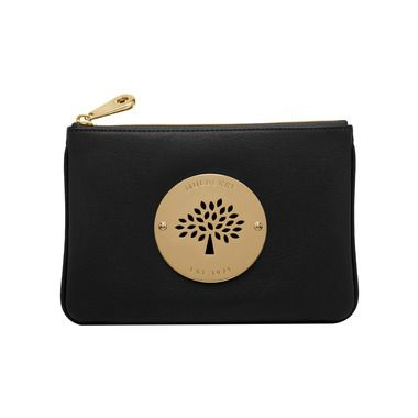 Mulberry - Daria Pouch in Black Spongy Pebbled  bccb4dfa0f637