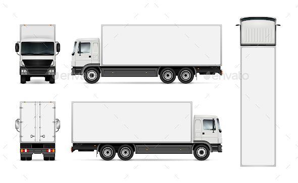 Delivery Truck Vector Template Com Imagens Caminhoes Caminhao