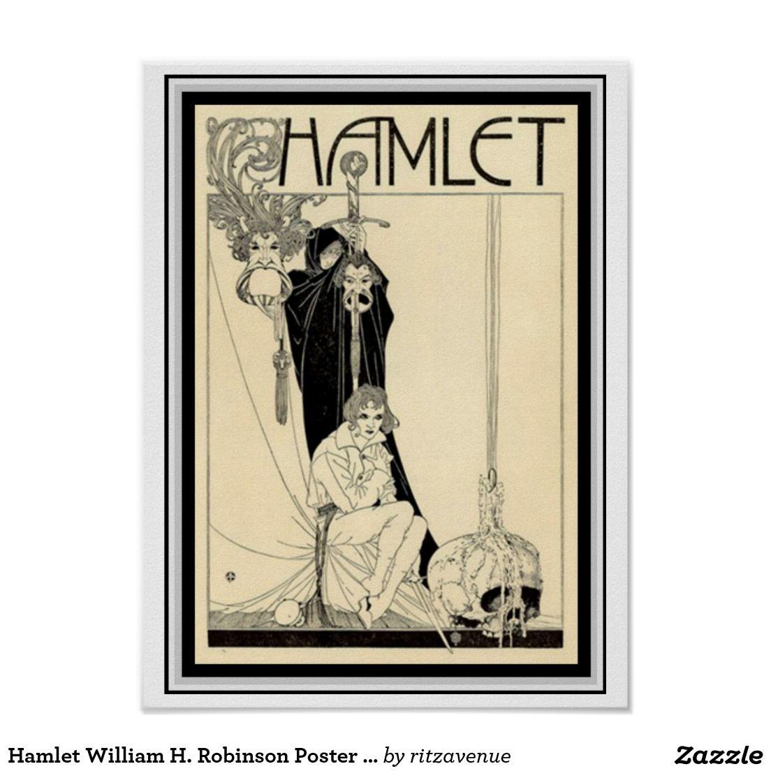 Hamlet William H. Robinson Poster 12 x 16 | Zazzle.com ...