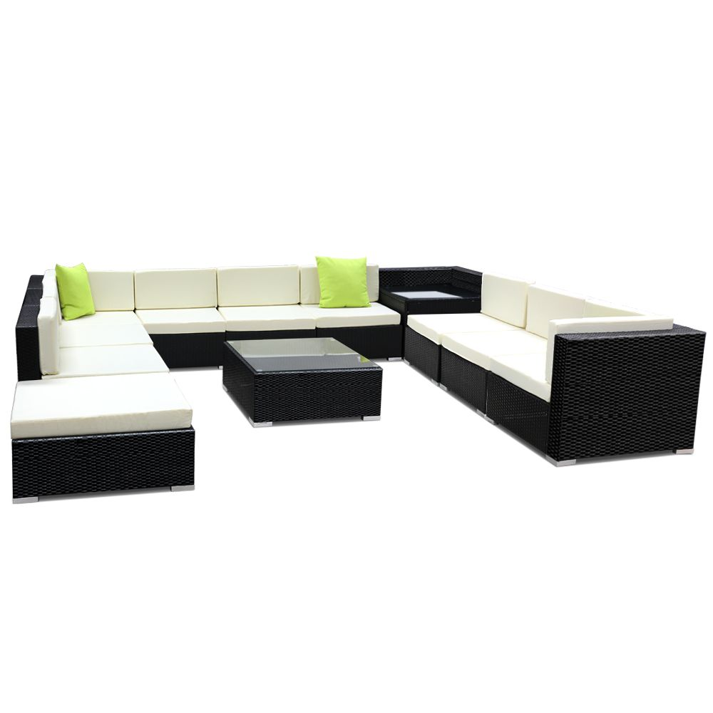 Botanica 12 Piece Outdoor Furniture Set Online Only Black Matt Blatt Furniture Sofa Set Outdoor Furniture Sofa Outdoor Furniture Australia
