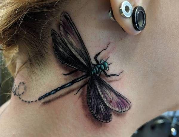 Tatuaż Ważka Znaczenie Historia 30 Zdjęć Pomysł Na