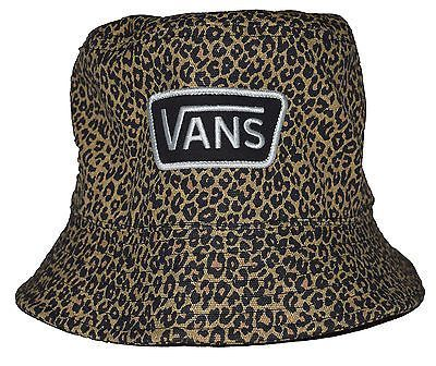 998201823f5 Vans Off The Wall Leopard Patch Reversible Bucket Hat ...
