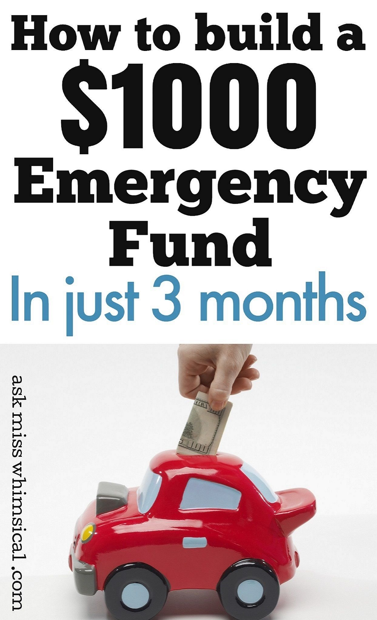 How to build an emergency fast savings plan for your