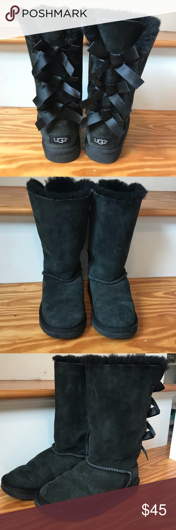 """Girls UGG boots Black-girls """"Bailey bow"""" UGG boots. 2 seasons old. Worn a handful of times. Great condition UGG Shoes Boots #uggbootsoutfitblackgirl Girls UGG boots Black-girls """"Bailey bow"""" UGG boots. 2 seasons old. Worn a handful of times. Great condition UGG Shoes Boots #uggbootsoutfitblackgirl"""