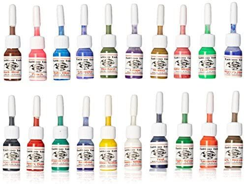 Amazon.com: 1TattooWorld OTW-C020 Premium Tattoo Ink Set, 20 Color, 5 ml Each: Beauty