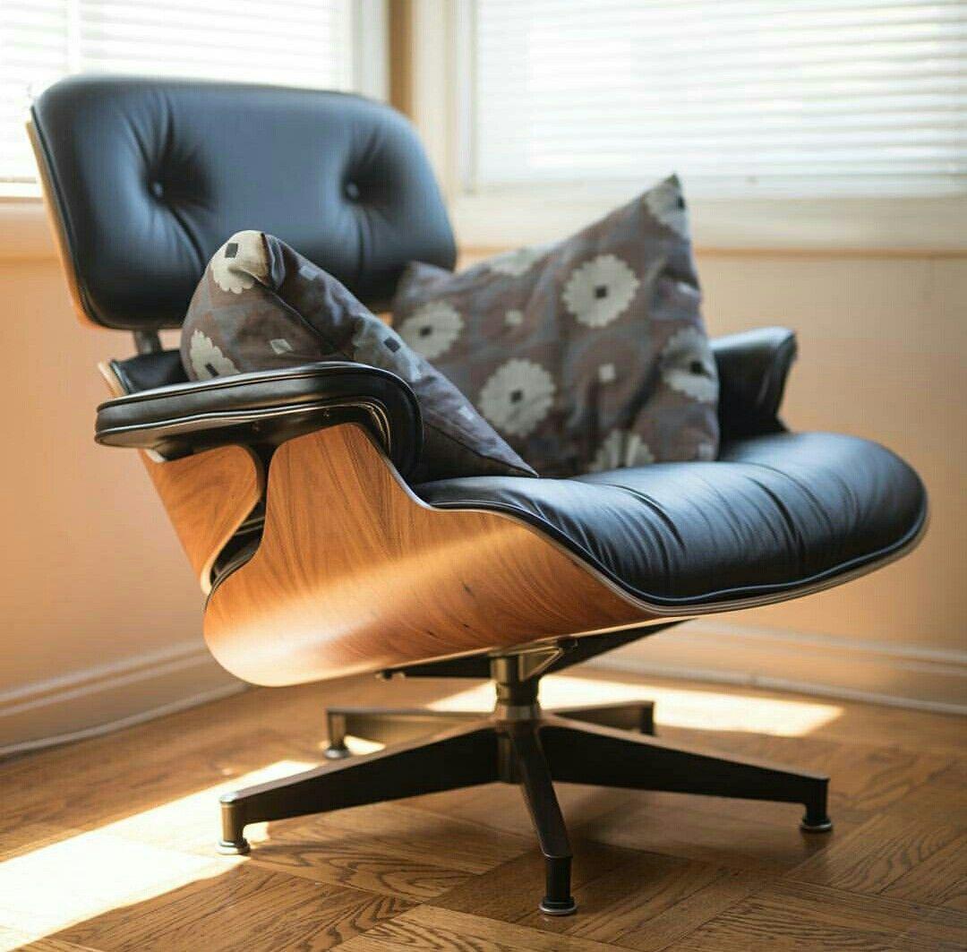 Vitra Lounge Chair Replica classic lounge chair & ottoman black in 2020 | chair