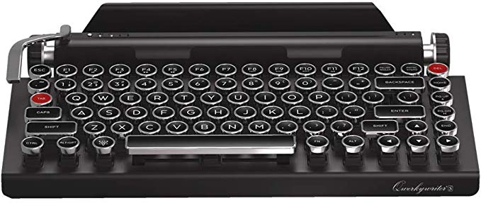 Amazon Com Qwerkywriter S Typewriter Inspired Retro Mechanical Wired Wireless Keyboard With Tablet Stand Computers Acces Tablet Stand Keyboard Typewriter