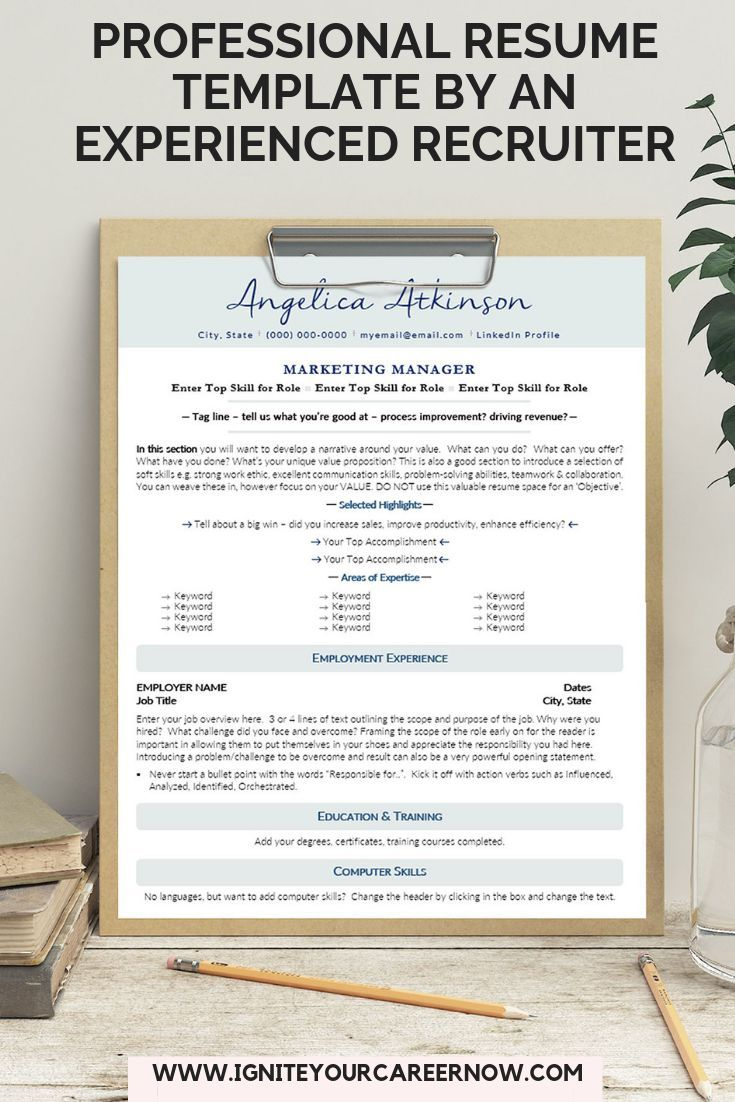 Cv template microsoft word resume template instant