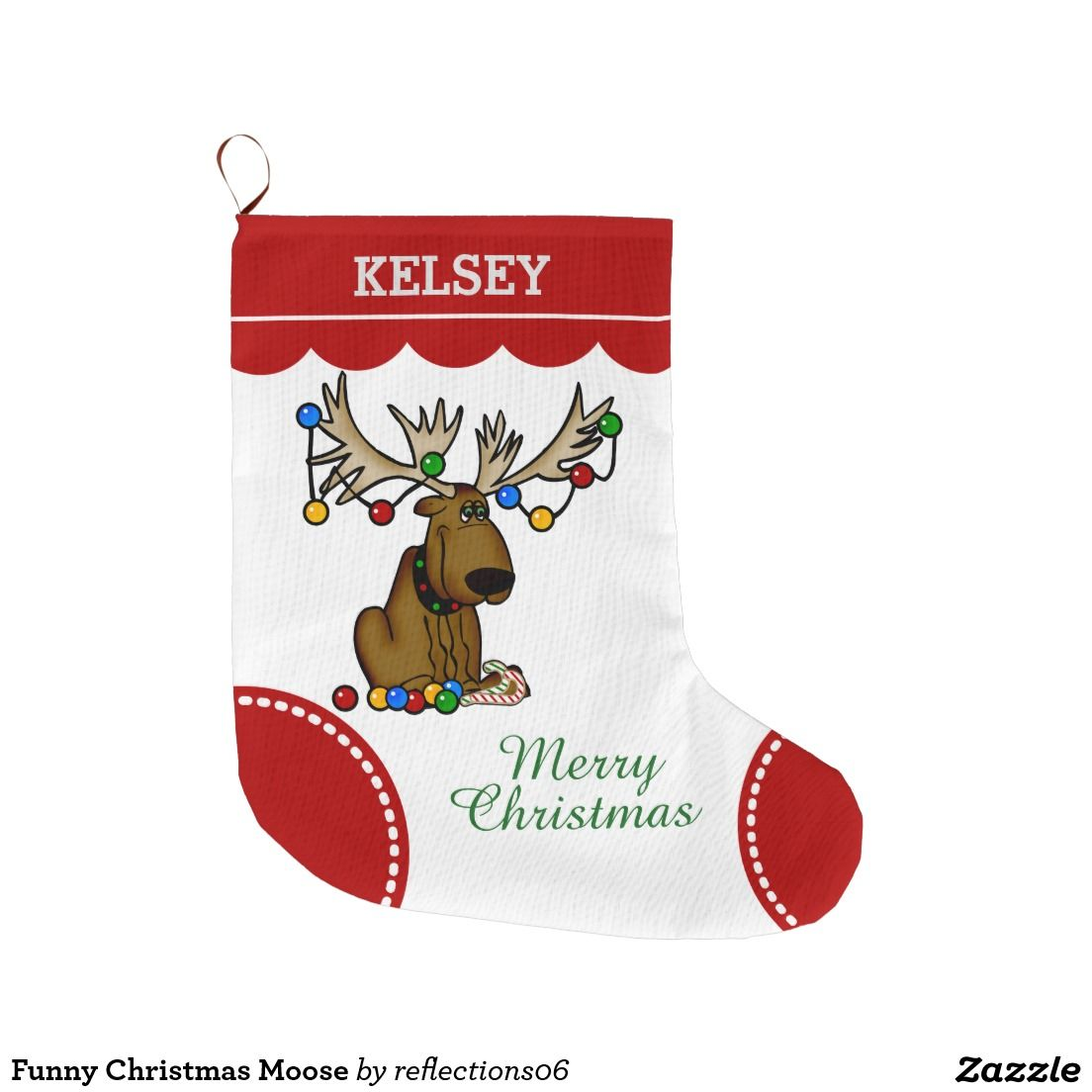 funny christmas moose large christmas stocking - Funny Christmas Stockings
