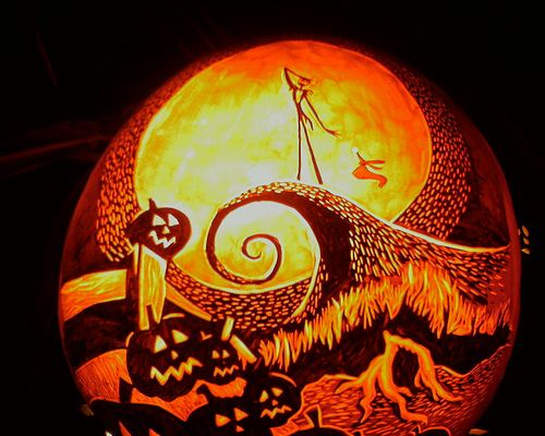 Nightmare Before Christmas Jack O Lantern Photo-0082 | Pumpkin ...
