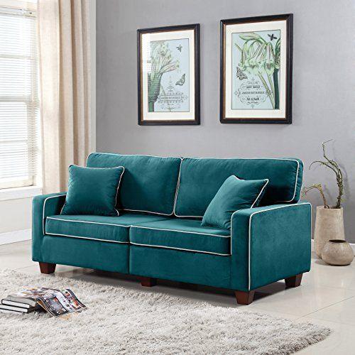 Divano Roma Furniture Collection Modern Two Tone Velvet Fabric