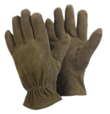 Briers Leather Checked Gloves Large