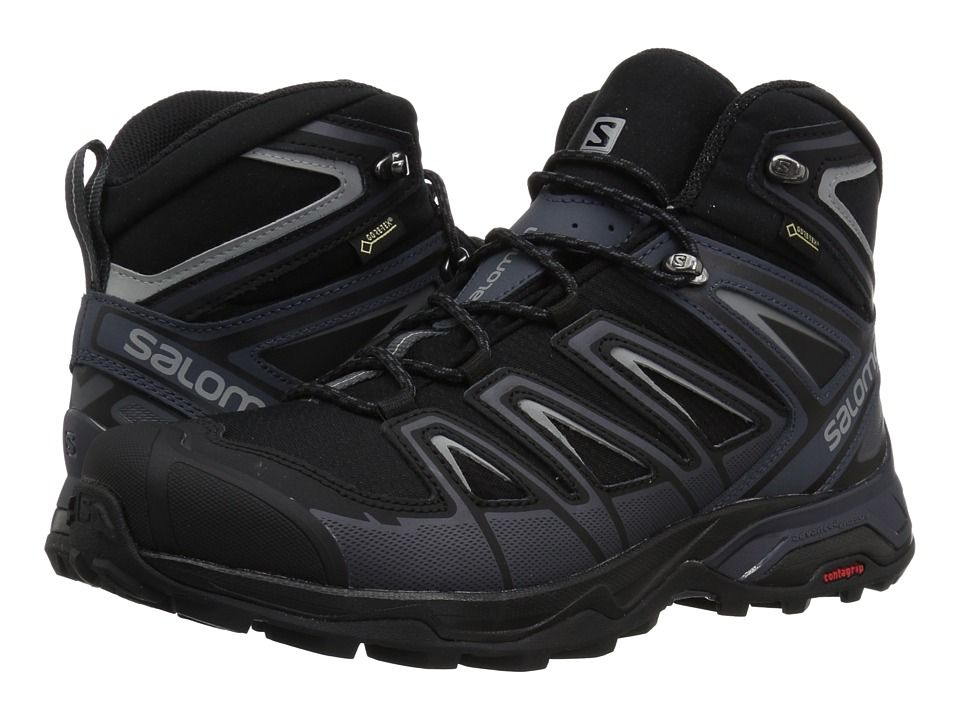 Salomon X Ultra 3 Wide Mid Gtx R Men S Shoes Black India Ink Monument Boots Hiking Boots Boots Men