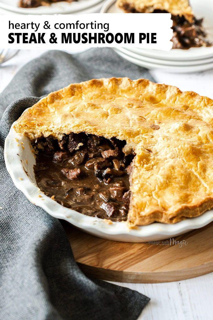 English Steak and Mushroom Pie | Recipe in 2020 | Steak ...