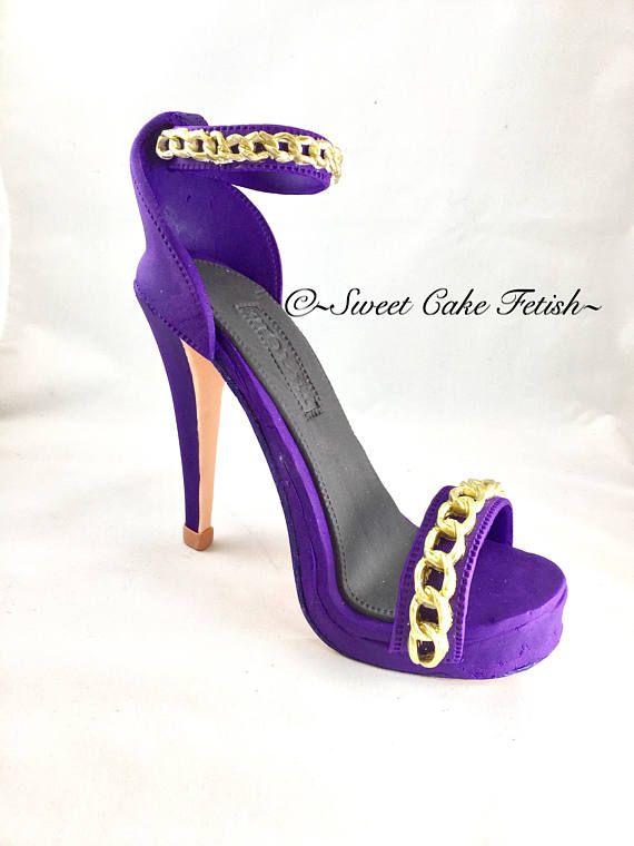 Fondant High Heel Shoe  Cake topper  Gumpaste shoe topper  Fondant shoe  High heel topper  Birthday cake topper  Gumpaste high heel  Fashion