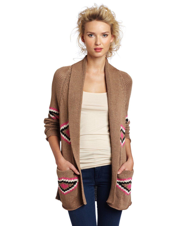 Twelfth St. by Cynthia Vincent Women's Shawl Collar Santa Fe Cardigan Sweater