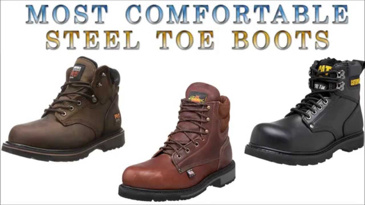 Check Our Collection Of The Top Most Comfortable Steel Toe Boots At Http Mybootprint Com Most Work Boots Men Comfortable Steel Toe Boots Steel Toe Work Boots