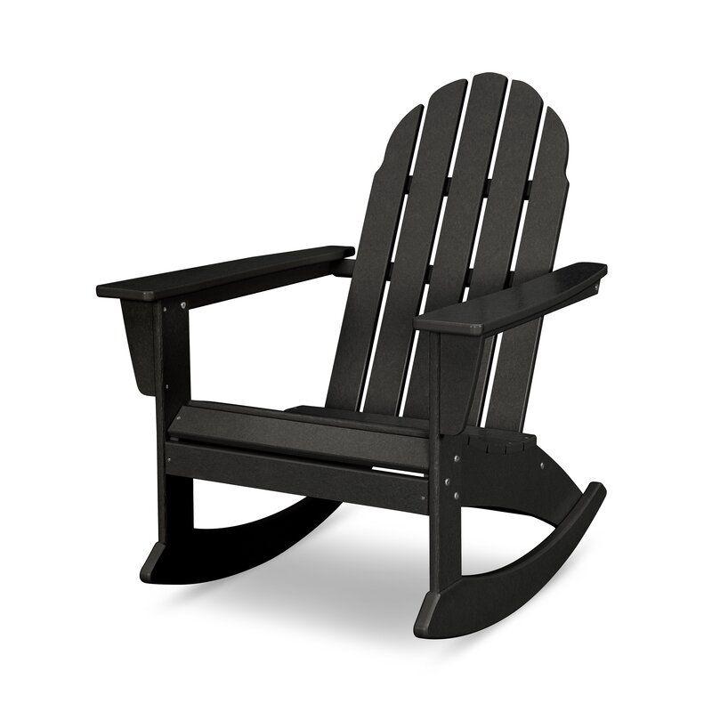 Vineyard Plastic Rocking Adirondack Chair In 2020 Adirondack