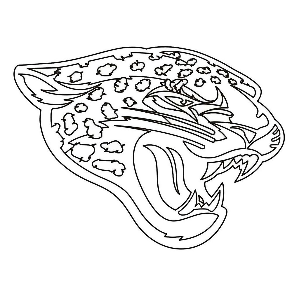 Pin By Pengadaan Indonesia On Nfl Logo Teams Coloring Pages Nfl Logo Jaguars Football Jaguars