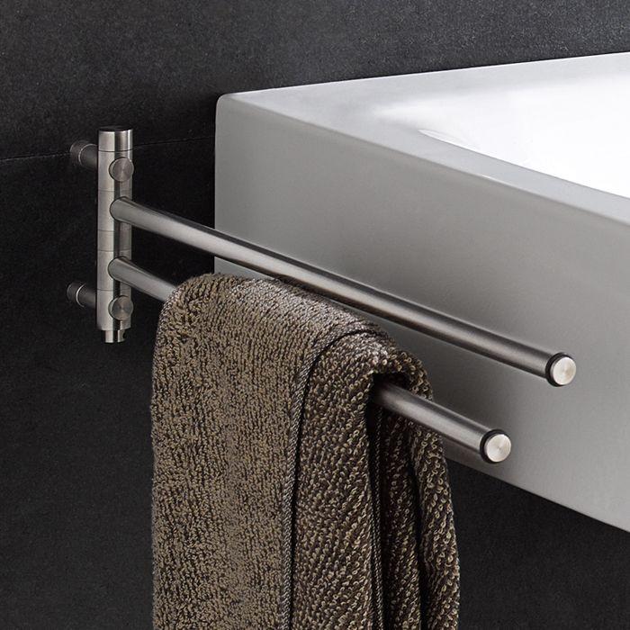 Handtuchhalter drehbar oder stabil: Handtuchstange GHH2 aus ... | {Bad accessoires edelstahl 35}