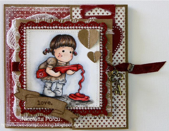 I Love Scrapbooking: Double fold card - Timbroscrapmania Challenge #49 - More than 1 fold