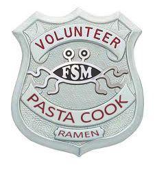 Fsm The Flying Spaghetti Monster Badge The Flying Spaghetti