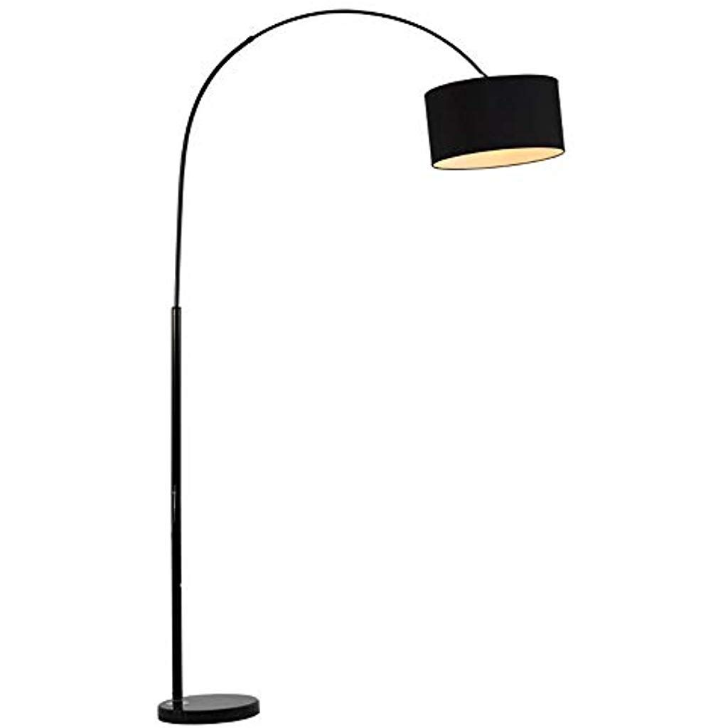 HHKQ Modern Arc Stehlampe Bogenlampe mit Druckknopfschalter