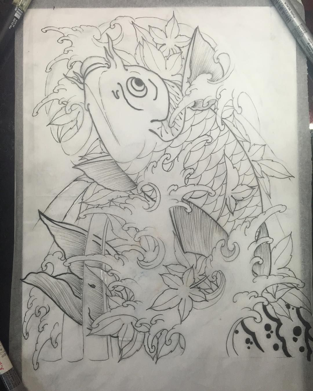 Sketch For A Japanese Sleeve: For A Half Sleeve Cover Up . #japanesetattoo