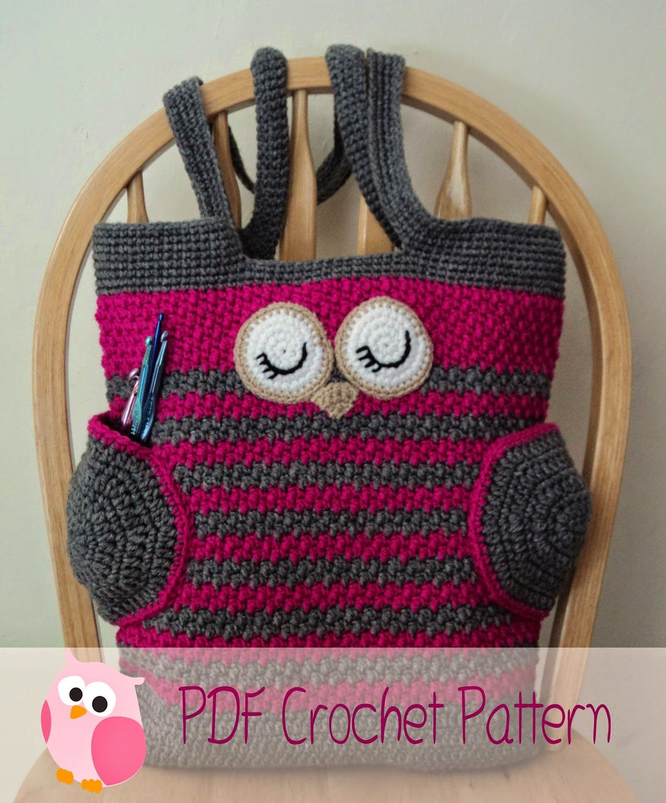 Httpmy cutelittlecraftsspot201205sleepy owl tote bag here is my newest pattern the sleepy owl tote bag crochet this sleepy owl for yourself or a friend bankloansurffo Choice Image