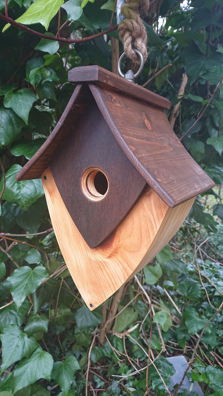 Unique Handmade Hanging Birdhouse Etsy Unique Bird Houses Bird Houses Beautiful Birdhouses