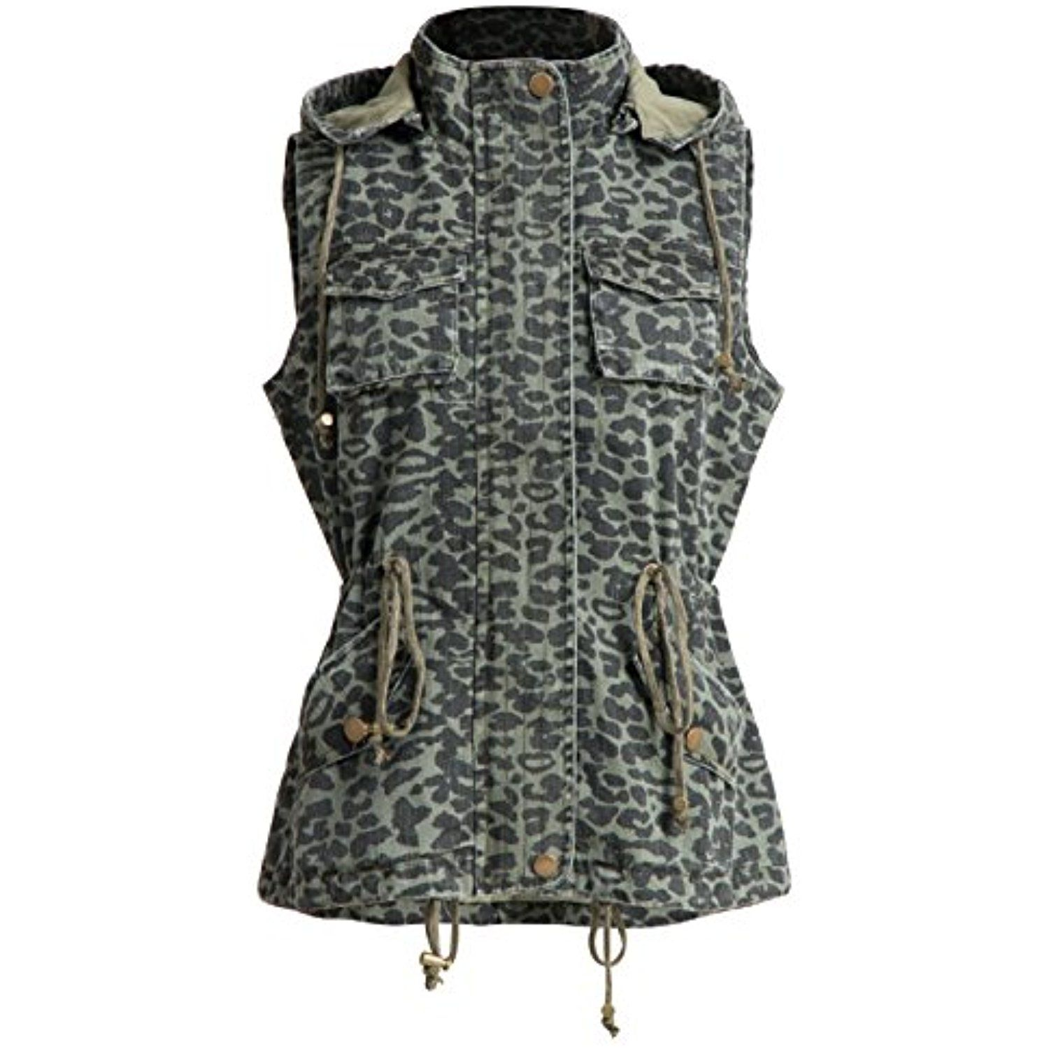 cbdf5e156a779 Womens Cotton Utility Safari Vest With Removable Hood Olive -- You can find  more details by visiting the image link. (This is an affiliate link)   Clothing