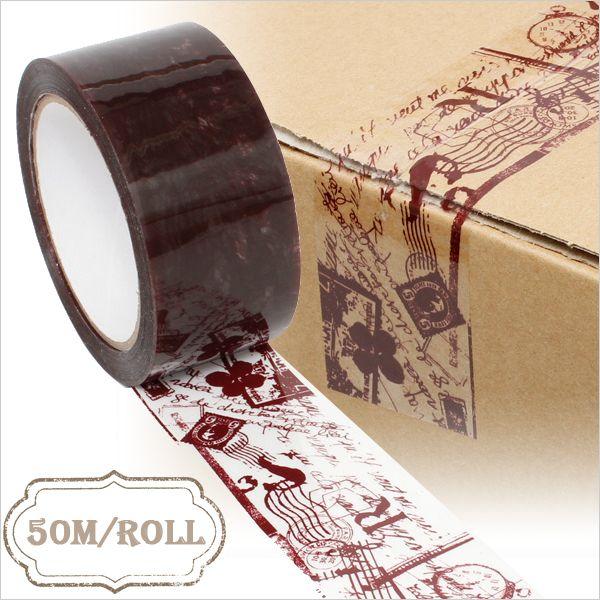 【HEIKO/シモジマ】パッキングテープ(柄入りOPPテープ)コラージュ ワイン 50mmx50m【楽天市場】