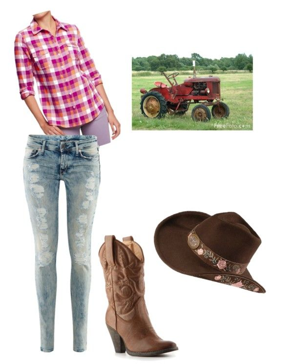 """She Thinks My Tractor's Sexy"" by lilmzbroomhead ❤ liked on Polyvore"
