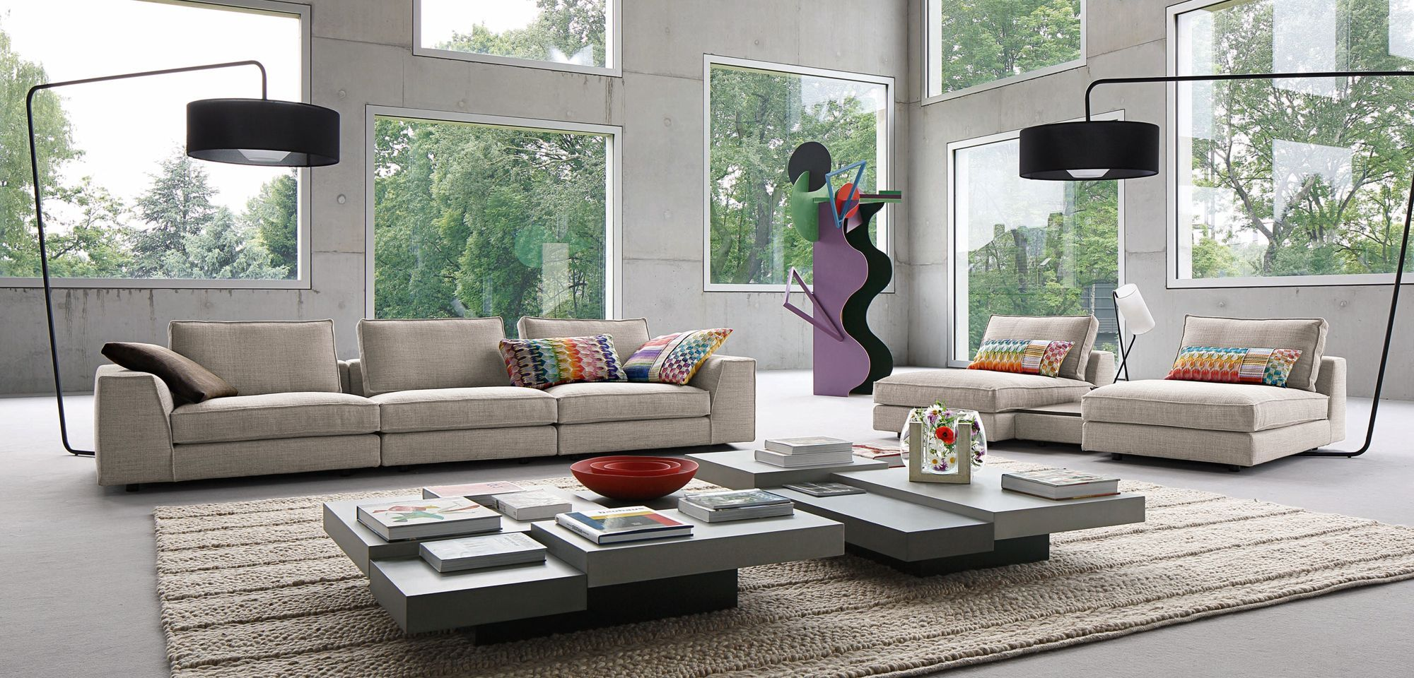 PERLE modular sectional Roche Bobois Living Room