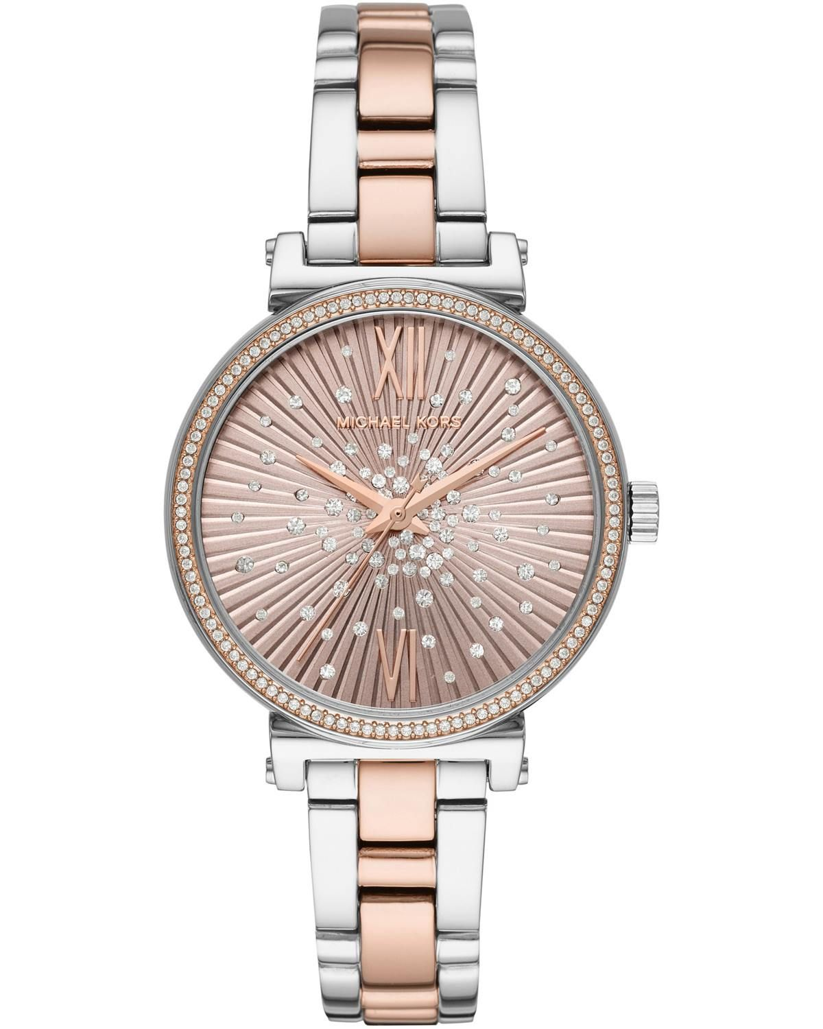 Michael KORS Sofie Crystals Two Tone Stainless Steel