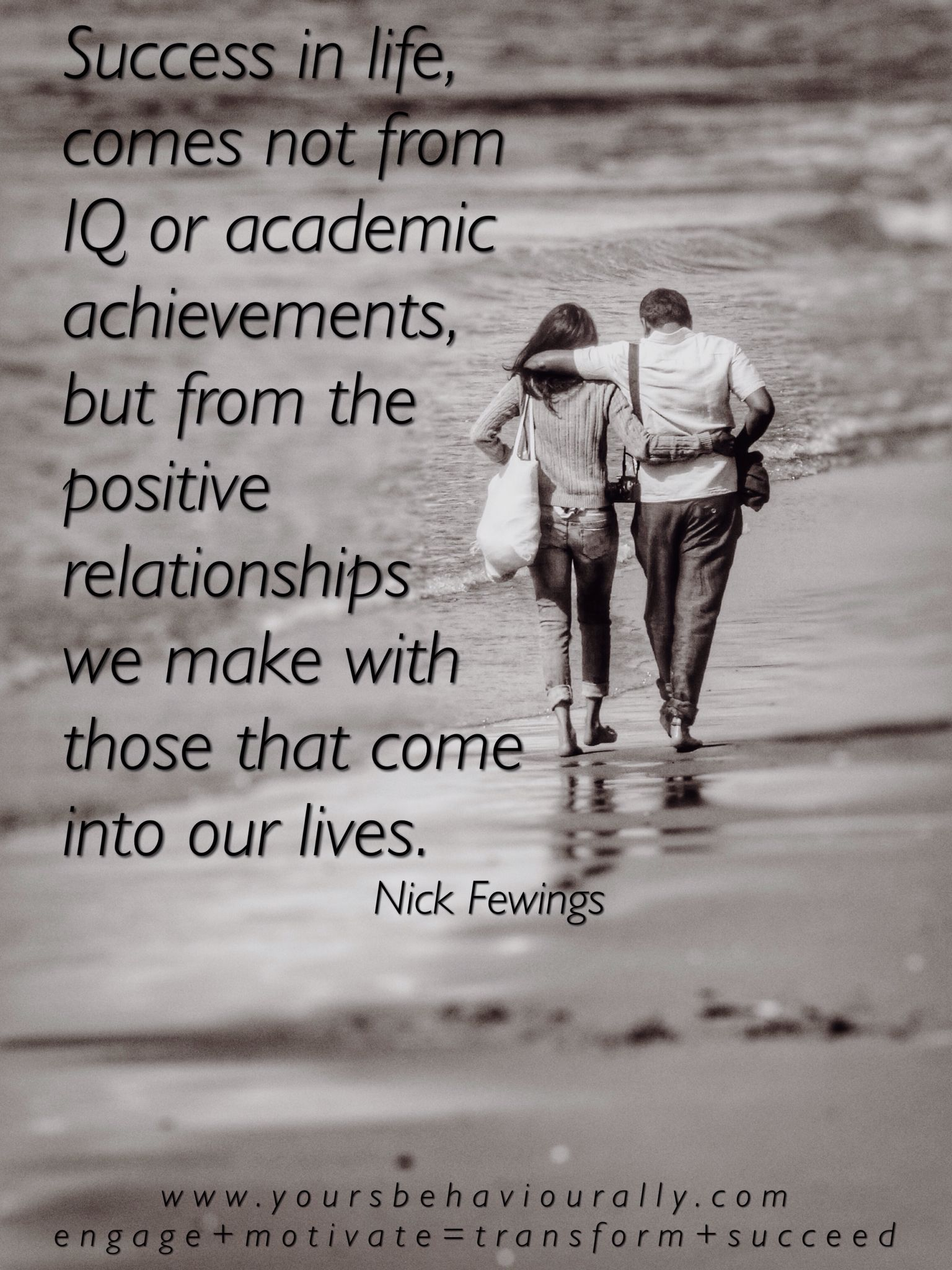 Success in life, comes not from IQ or academic